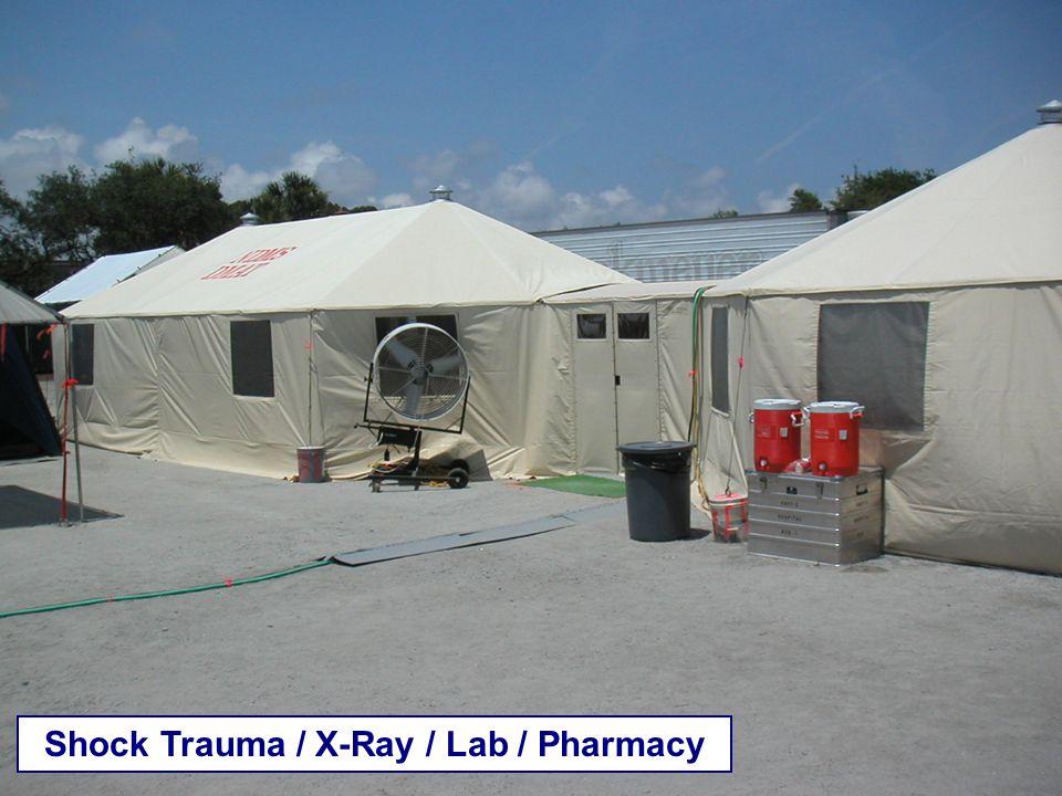 Shock Trauma / X-Ray / Lab / Pharmacy