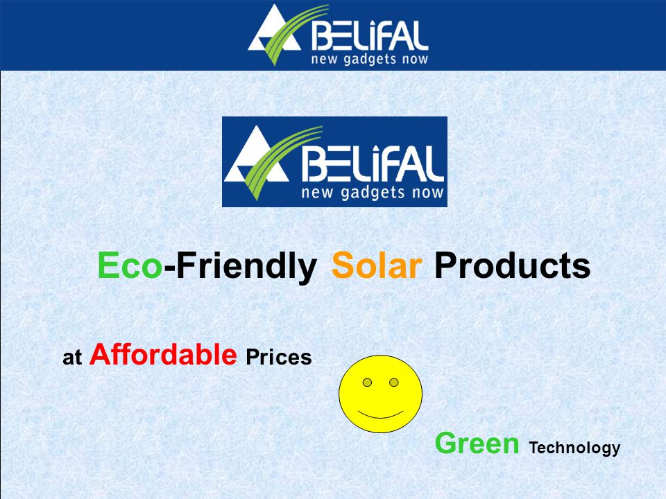 Eco-Friendly Solar Products at Affordable Prices Green Technology