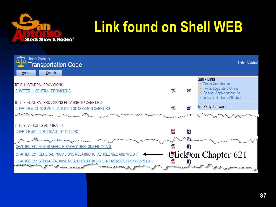 37 Link found on Shell WEB Click on Chapter 621