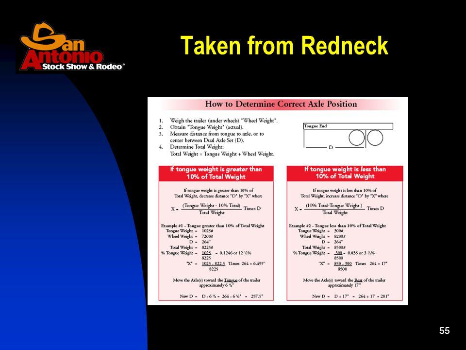 55 Taken from Redneck