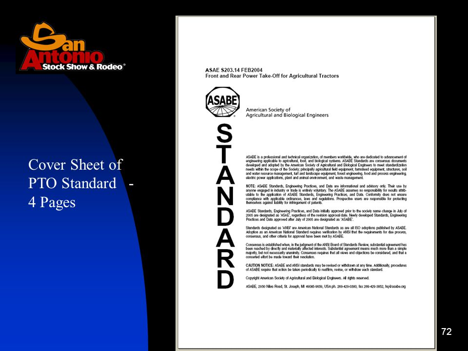 72 Cover Sheet of PTO Standard - 4 Pages