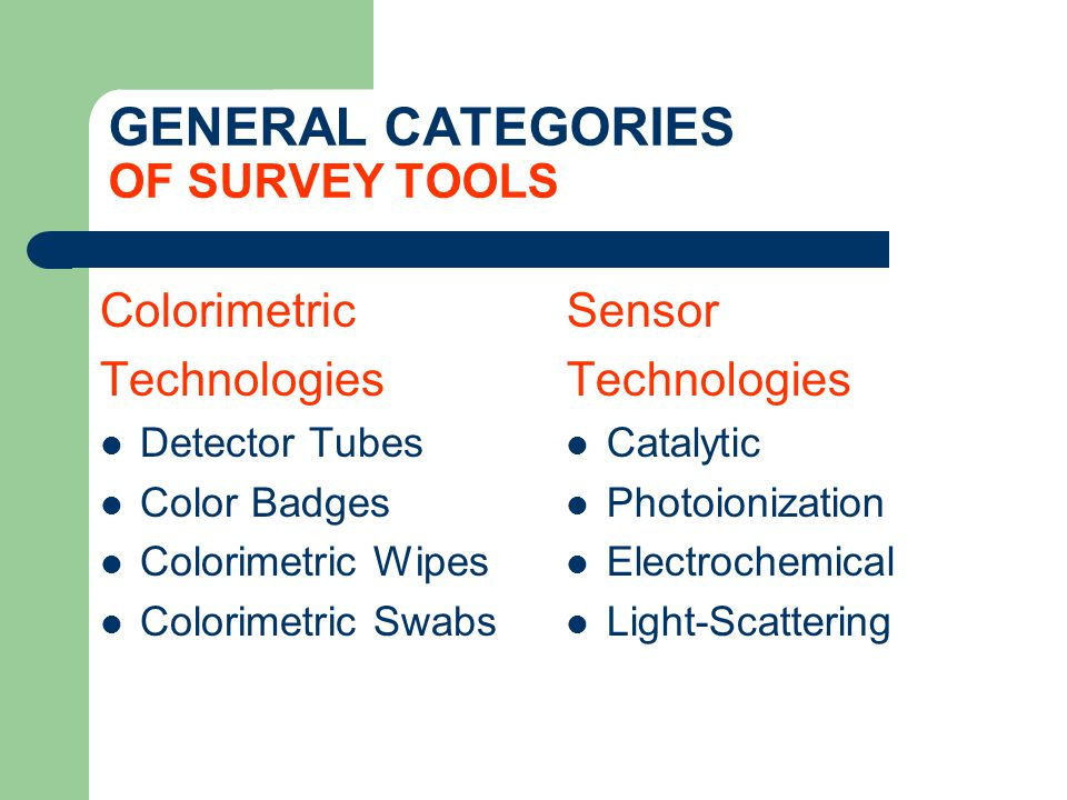 CALIBRATION IS CRITICAL FOR SENSOR TECHNOLOGIES All direct-reading instruments must be calibrated properly and regularly.