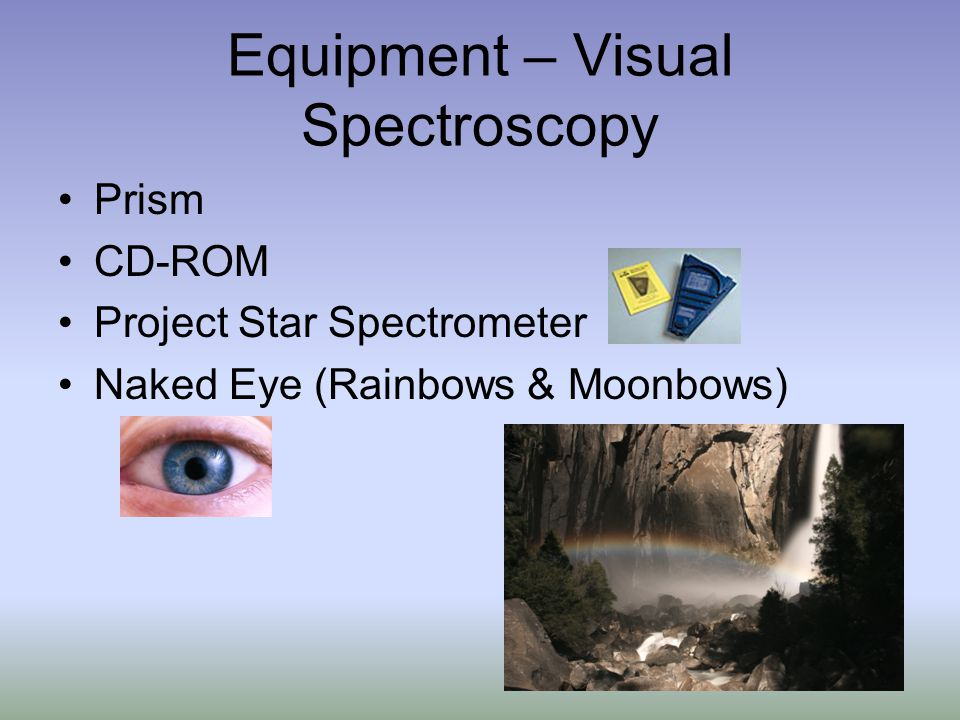 Equipment – Visual Spectroscopy Prism CD-ROM Project Star Spectrometer Naked Eye (Rainbows & Moonbows)