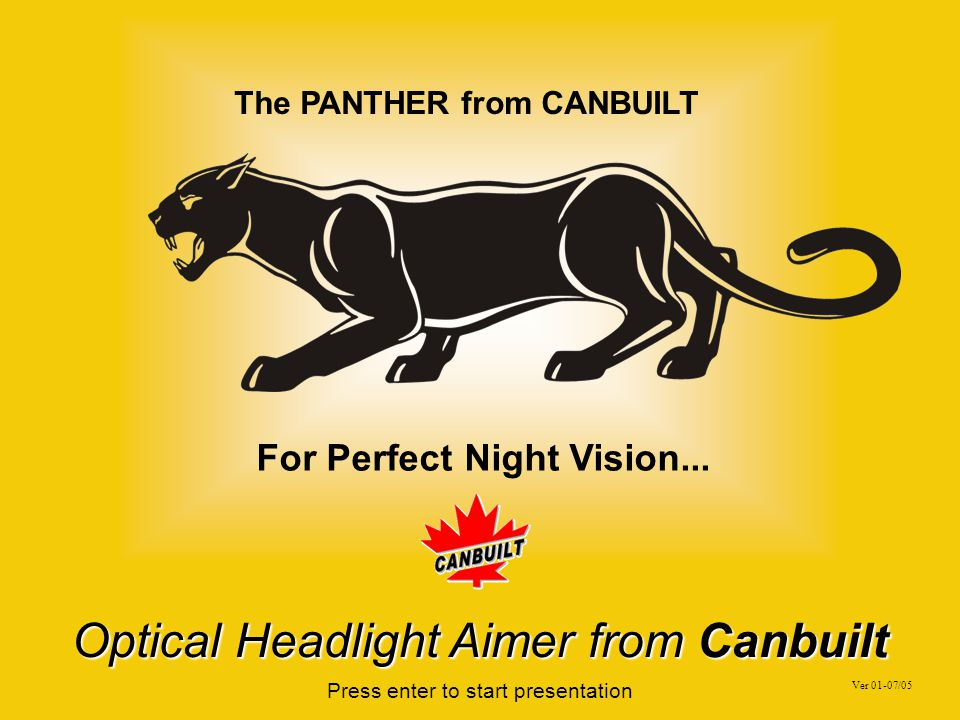Introducing The Panther OPT-5405 Optical Headlight Aimer From CANBUILT MFG Return to table of contents