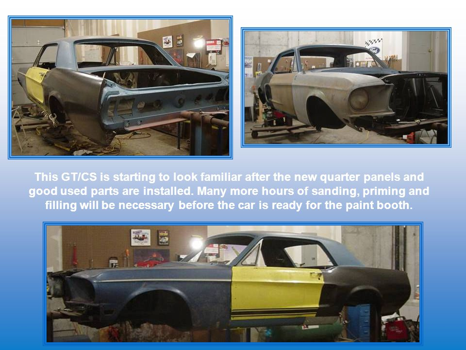 This GT/CS is starting to look familiar after the new quarter panels and good used parts are installed.