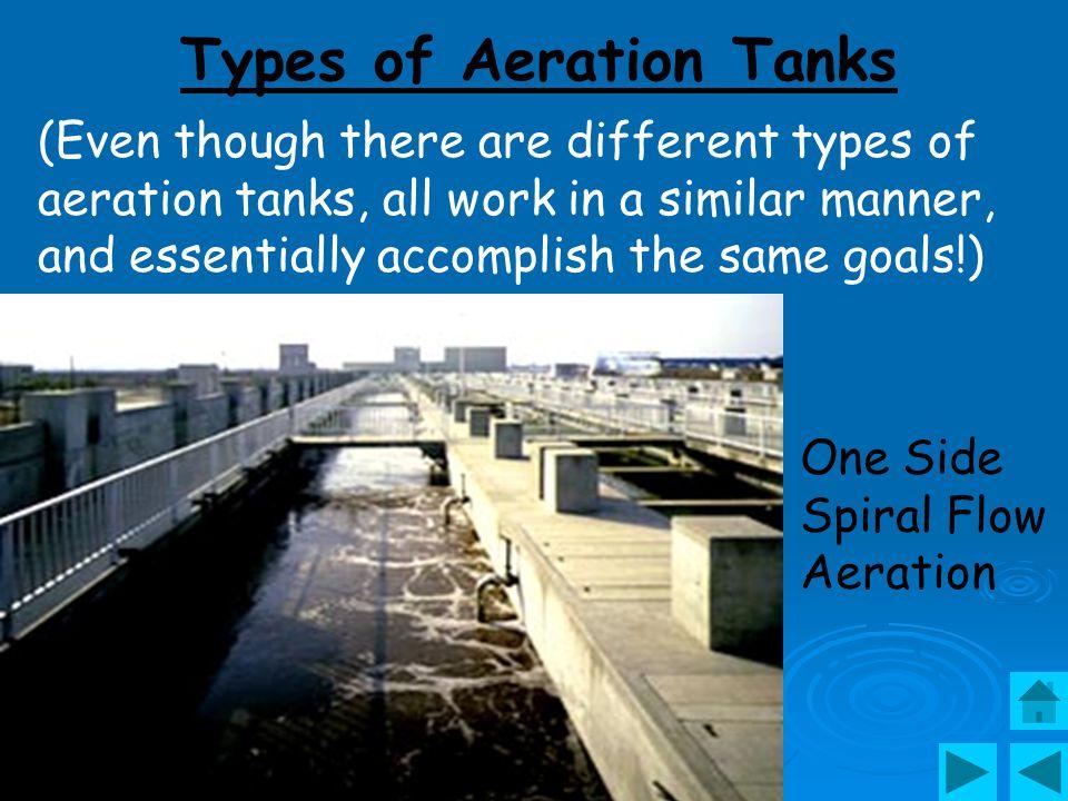 Bottom of empty aeration tank showing agitators