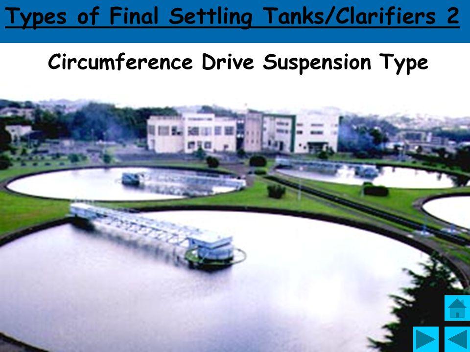 Types of Final Settling Tanks/Clarifiers 2 Traveling Bridge Type