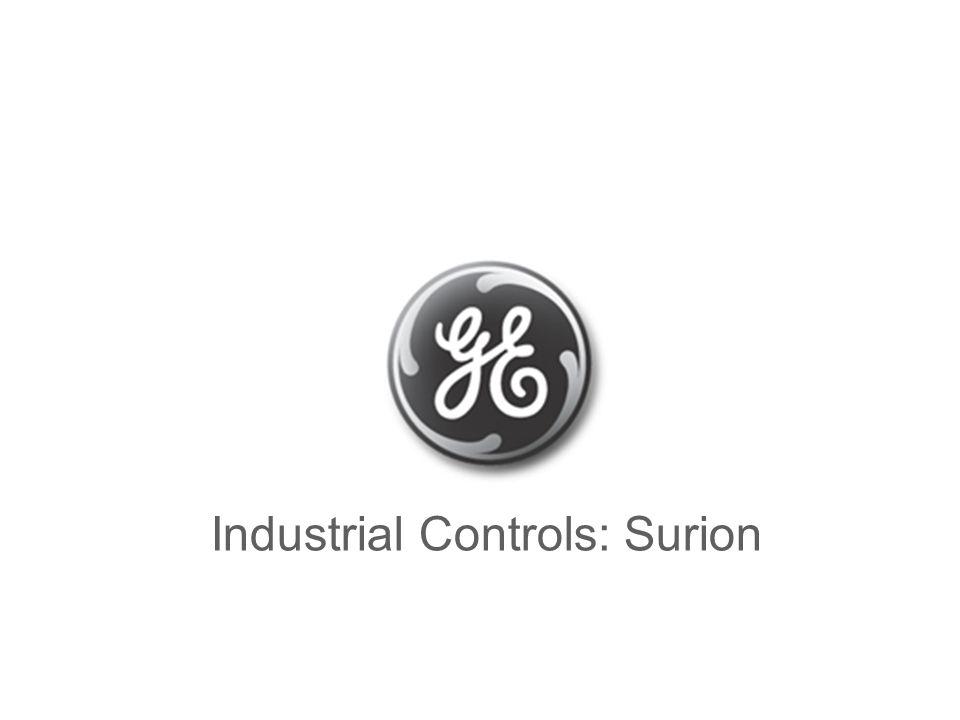 GE Power Controls Surion GE Power Controls Industrial Controls: Surion