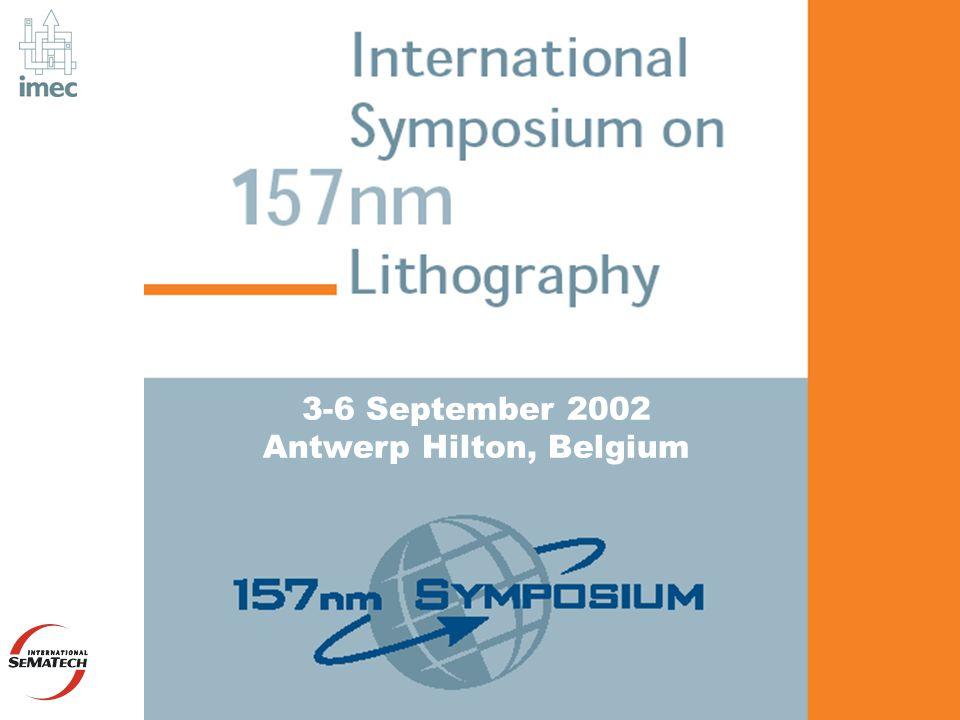 3-6 September 2002 Antwerp Hilton, Belgium