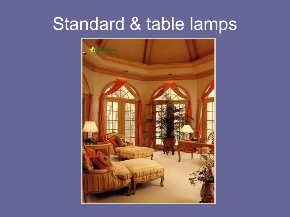 Standard & table lamps