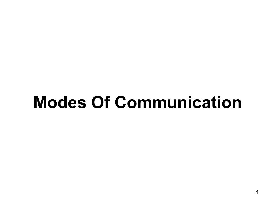 4 Modes Of Communication