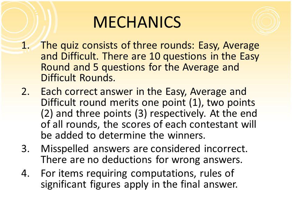 Science Quiz 2010 SECONDARY LEVEL 4th Year Prof. Jasmine Angelie V. Albelda