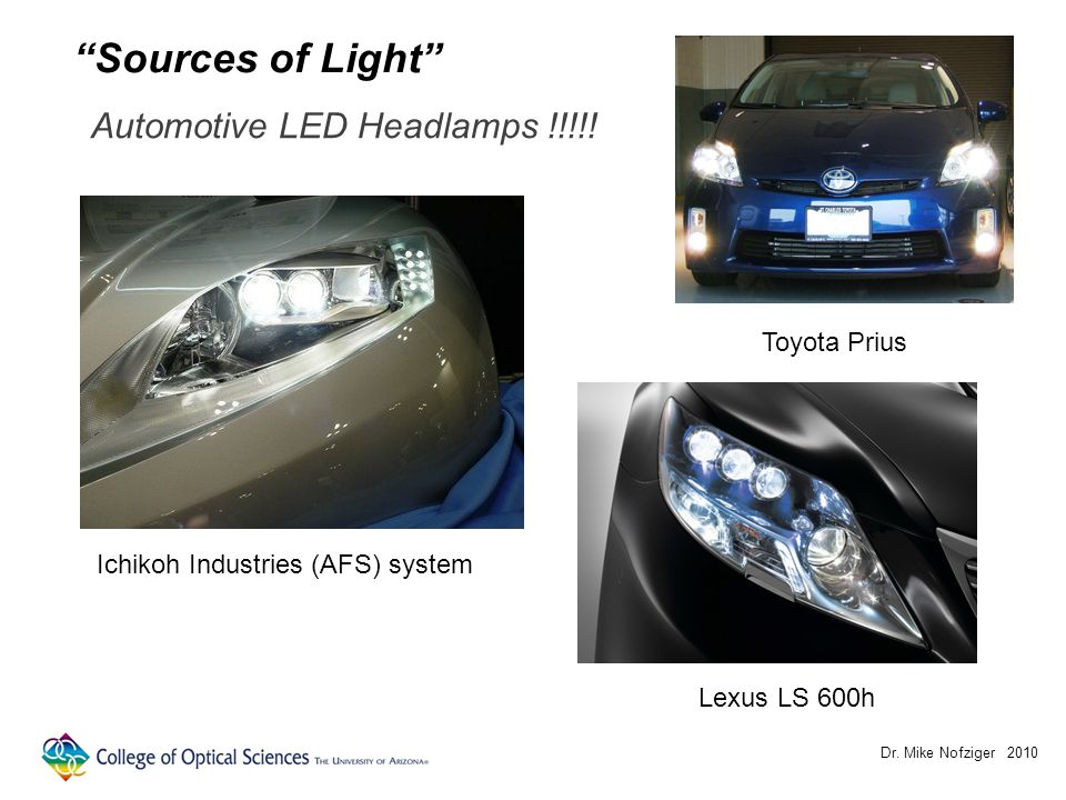 Dr. Mike Nofziger 2010 Automotive LED Headlamps !!!!.