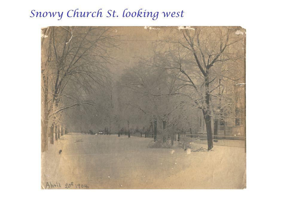 Snowy Church St. looking west
