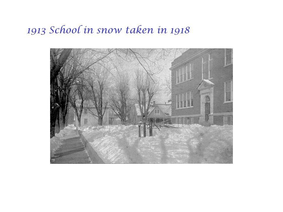1913 School in snow taken in 1918