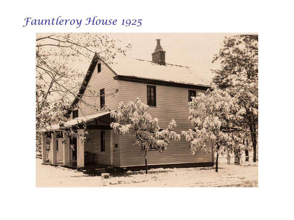 Fauntleroy House 1925