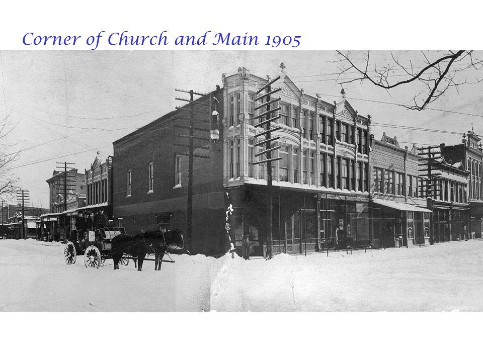 Corner of Church and Main 1905