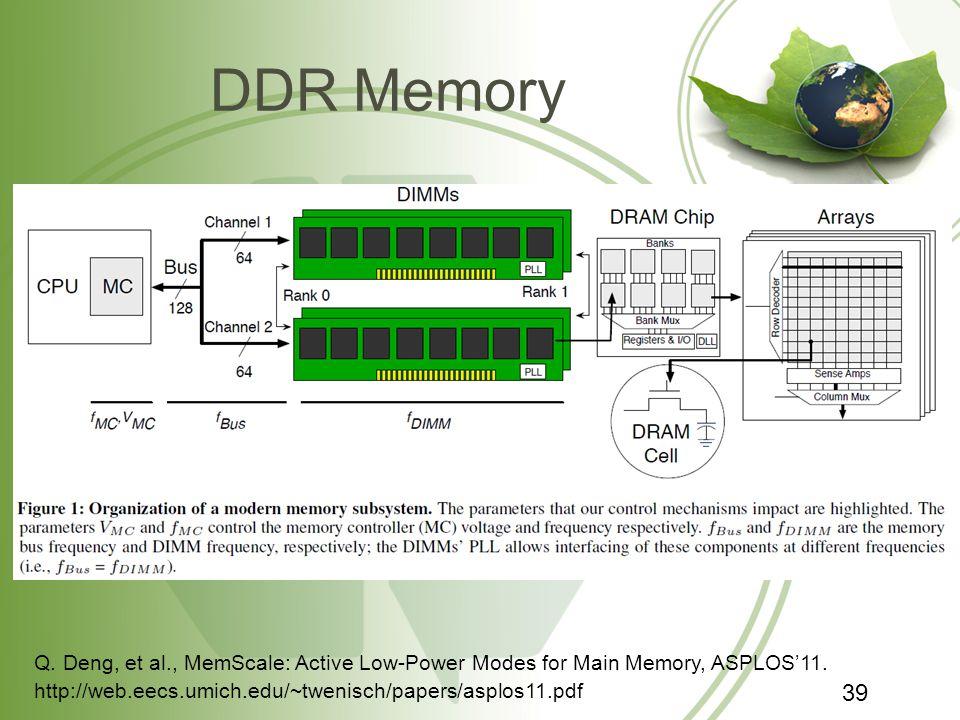 DDR Memory http://web.eecs.umich.edu/~twenisch/papers/asplos11.pdf Q.