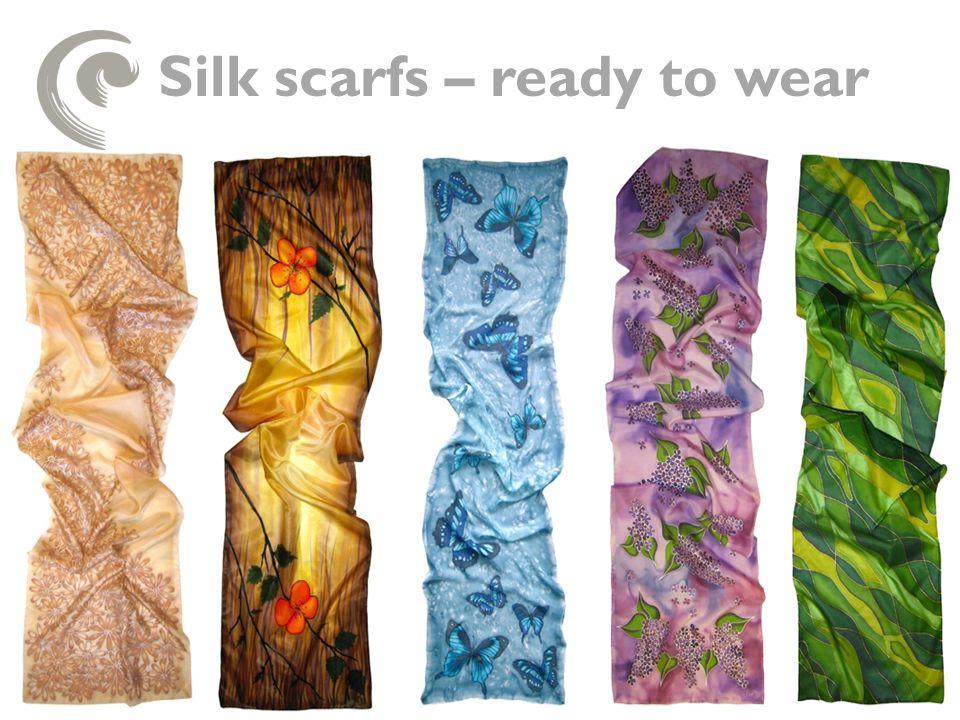 Silk scarfs – ready to wear