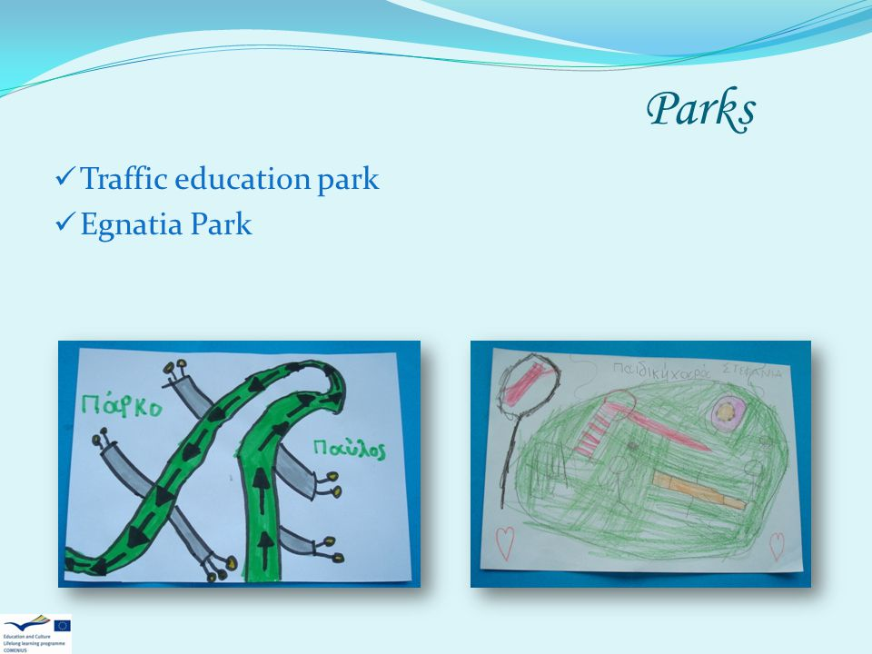 Parks Traffic education park Egnatia Park