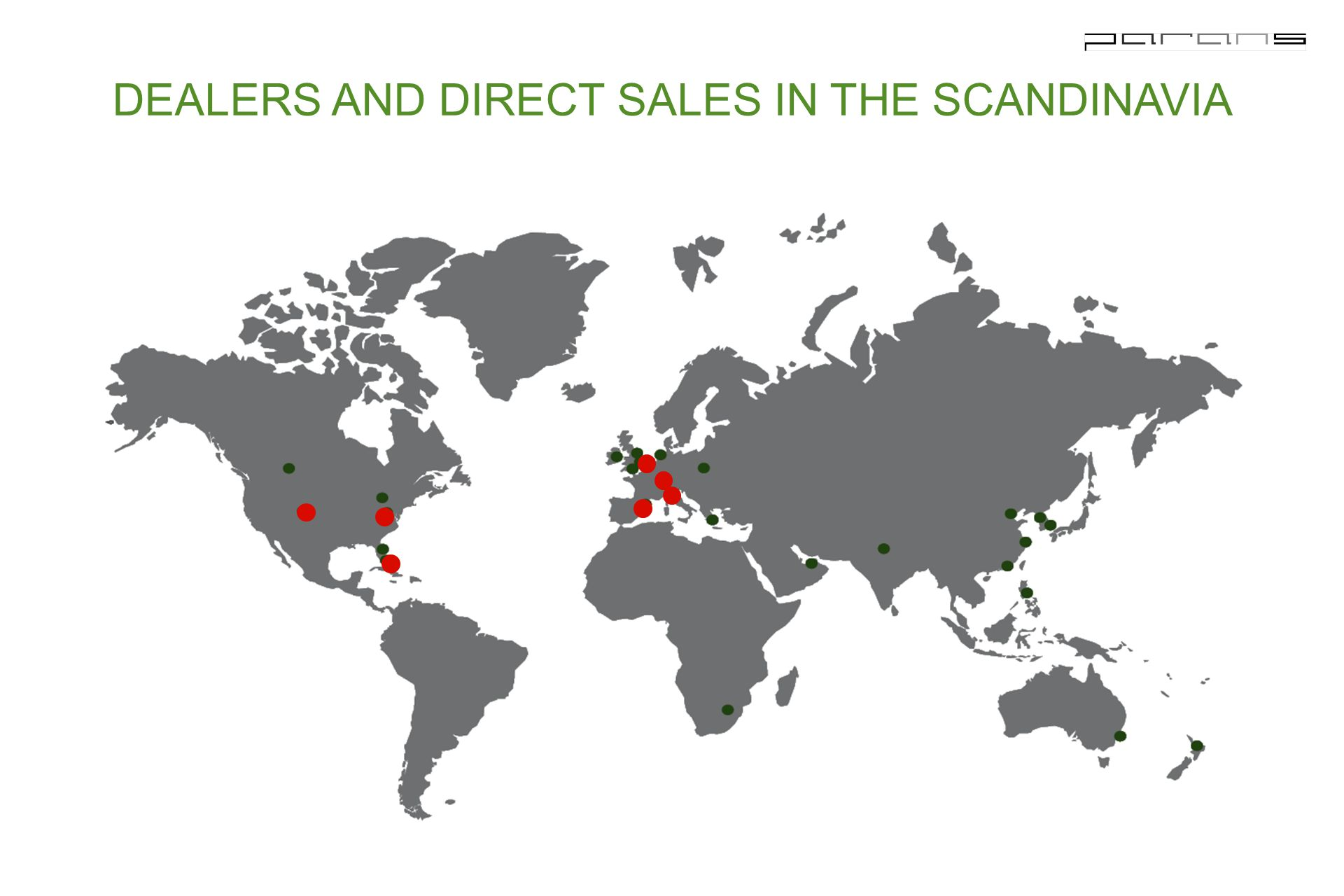 DEALERS AND DIRECT SALES IN THE SCANDINAVIA