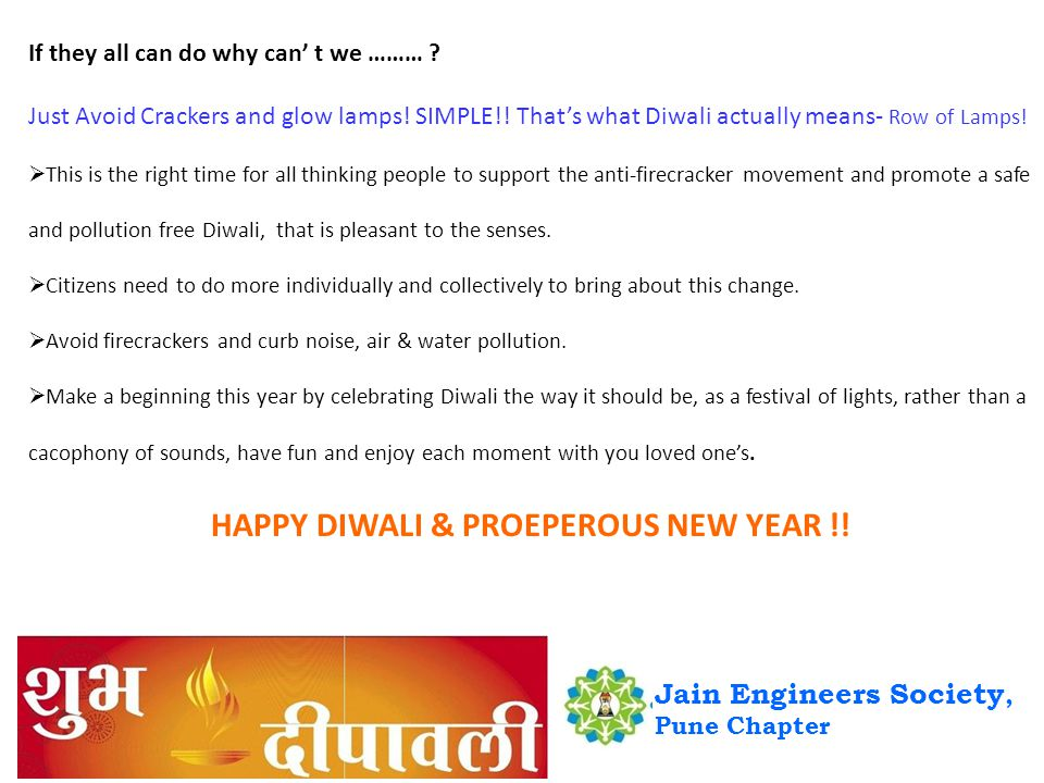 If they all can do why can t we ……… . Just Avoid Crackers and glow lamps.