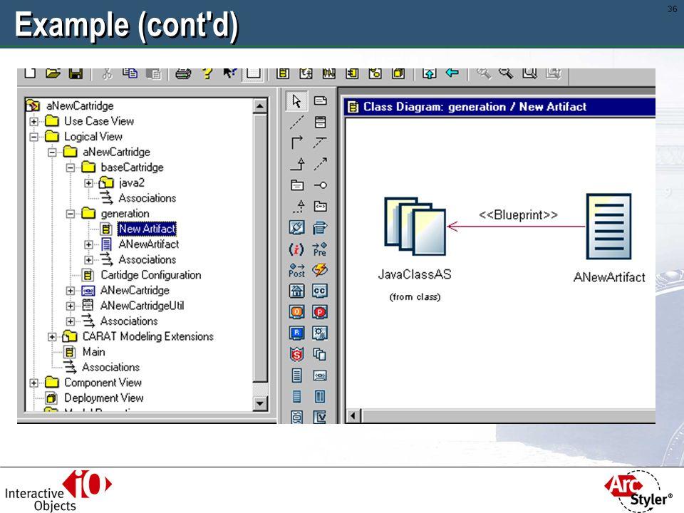 35 Example: Adding an Artifact to Java2 Cartridge
