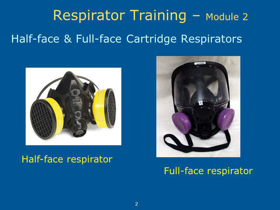 Respirator Cartridge Color Coding Ammonia- green Organic vapor (solvents) - black Acid gas (sulfuric acid, for example) - white Acid gas and organic vapor - yellow Chlorine – white & yellow These are some commonly used cartridges 13 Dust/fumes - pink (HEPA filter) Dust/fumes/mists - teal
