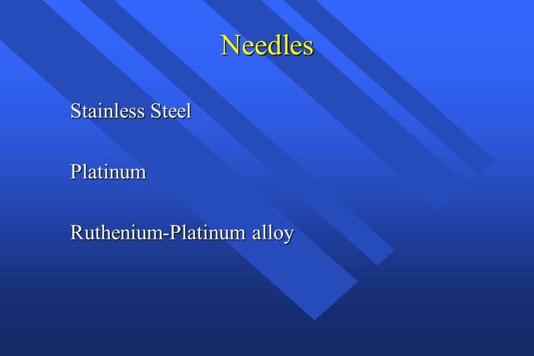 Needles Stainless Steel Platinum Ruthenium-Platinum alloy