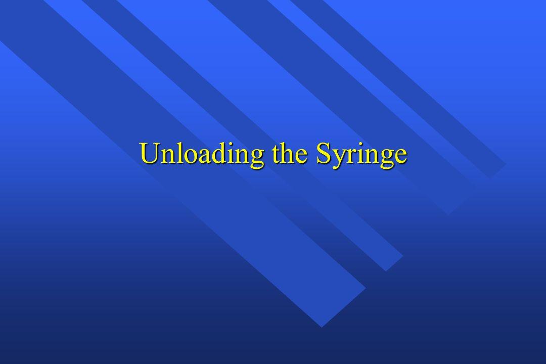 Unloading the Syringe