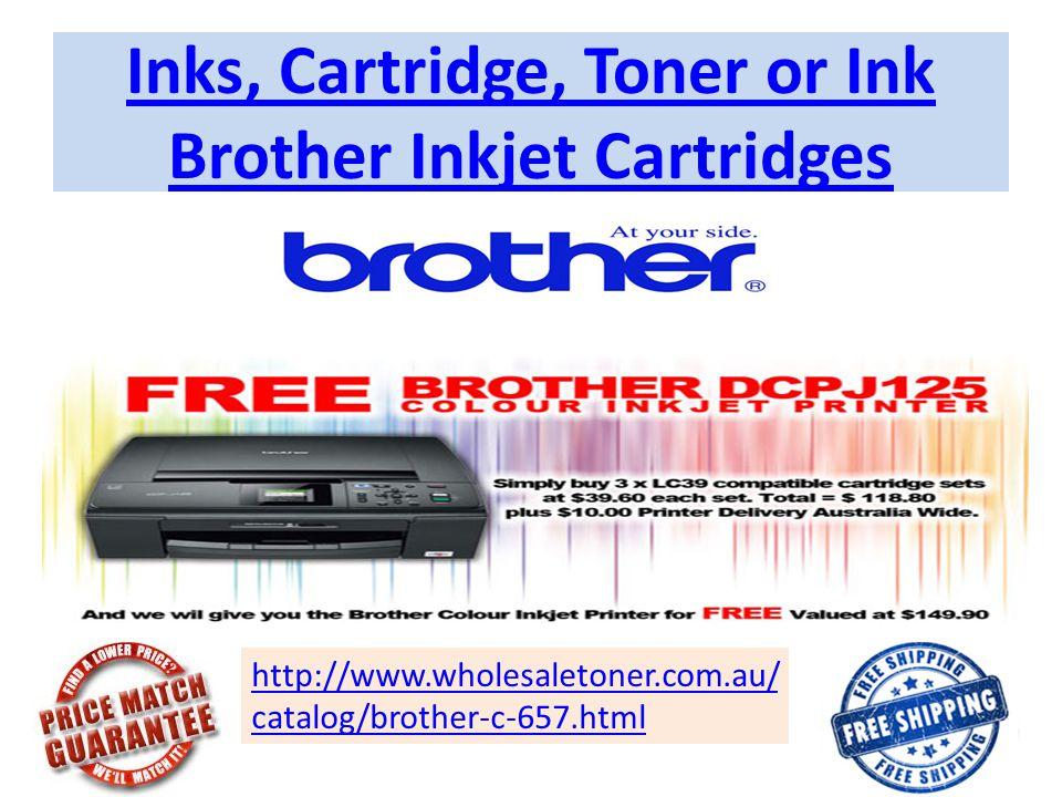 Inks, Cartridge, Toner or Ink Brother Inkjet Cartridges http://www.wholesaletoner.com.au/ catalog/brother-c-657.html