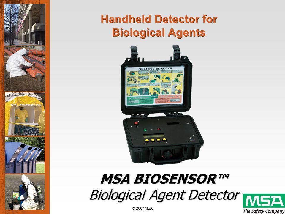 © 2007 MSA BIOSENSOR Assay Technology 1.
