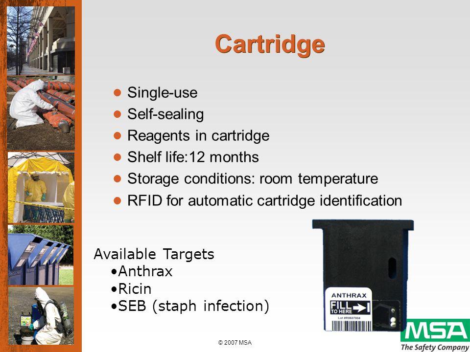 © 2007 MSA BIOSENSOR 2200R Biological Agent Detector Competitive Comparison