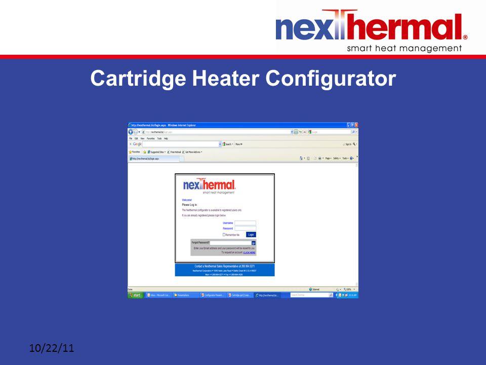 10/22/11 Cartridge Heater Configurator