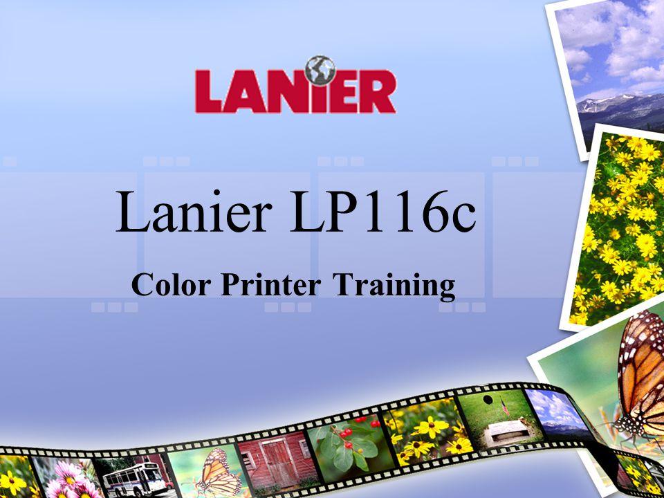 Lanier LP116c Color Printer Training
