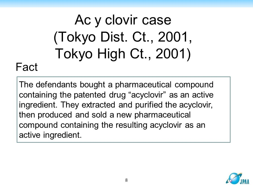 Ac clovir case (Tokyo Dist.
