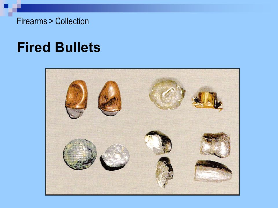 Fired Bullets Firearms > Collection