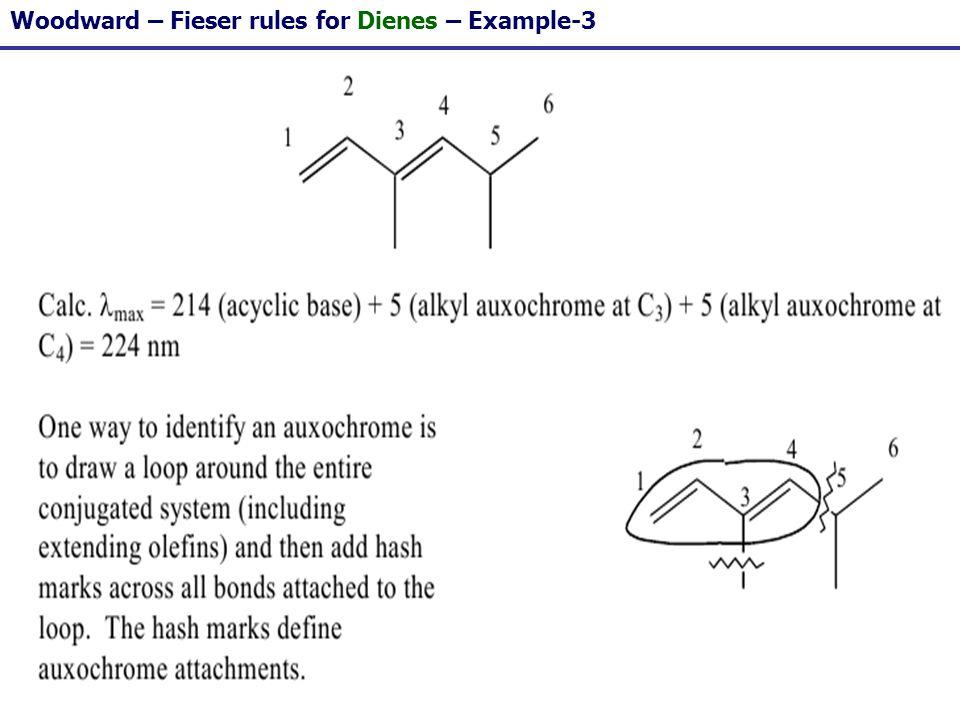 113 Woodward – Fieser rules for Dienes – Example-3