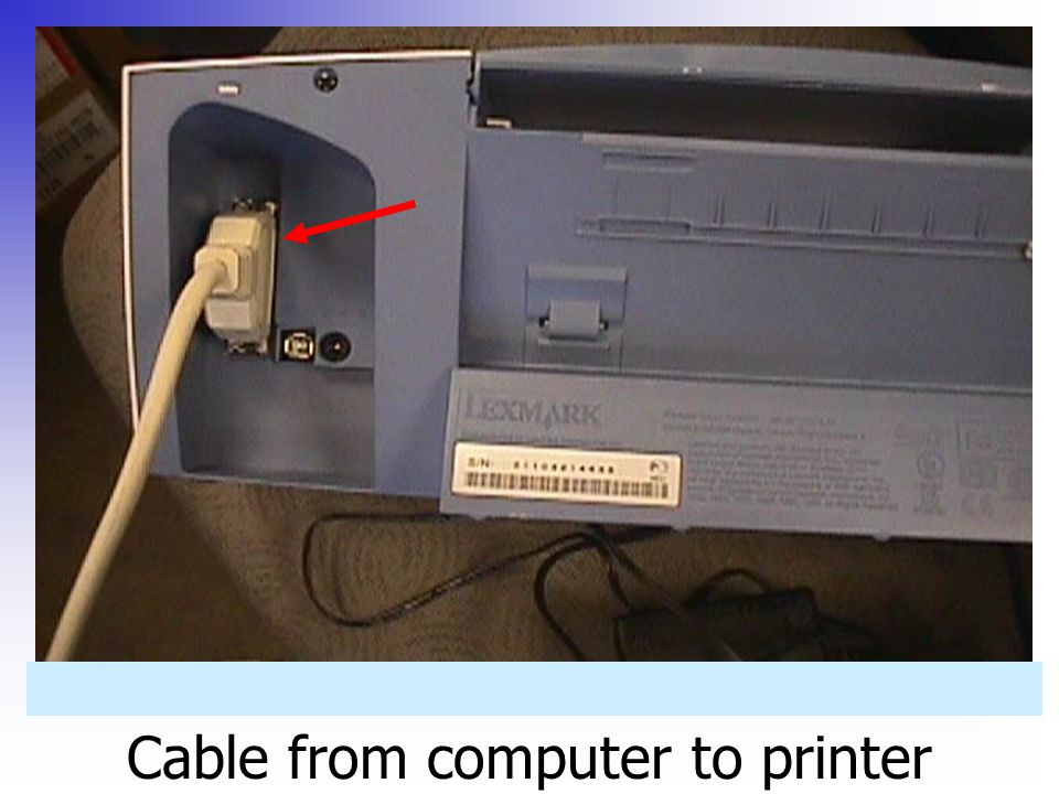 Cable from computer to printer