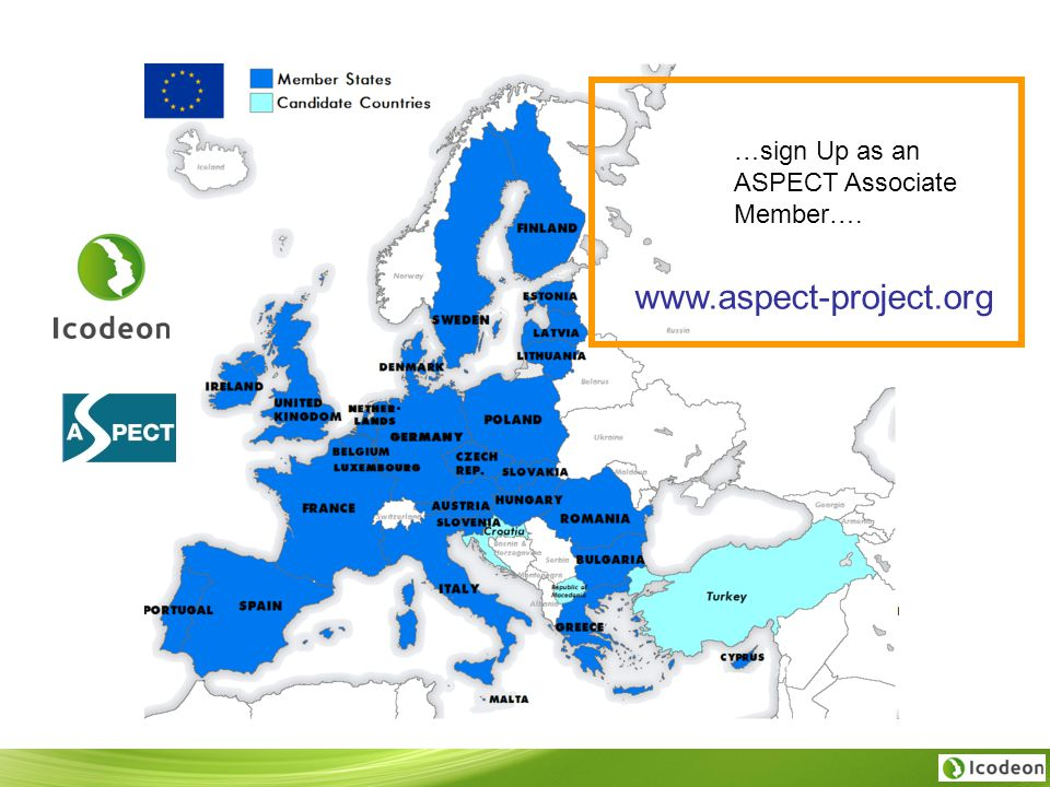 …sign Up as an ASPECT Associate Member…. www.aspect-project.org