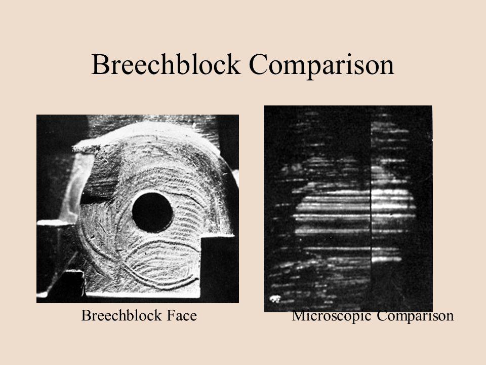 Breechblock Comparison Breechblock FaceMicroscopic Comparison