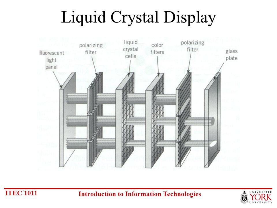ITEC 1011 Introduction to Information Technologies Liquid Crystal Display
