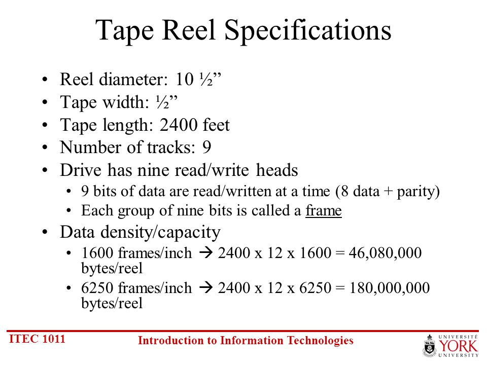 ITEC 1011 Introduction to Information Technologies Note: Varies on different systems