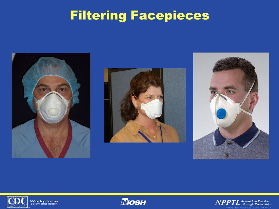 NPPTL Year Month Day Initials BRANCH Filtering Facepieces