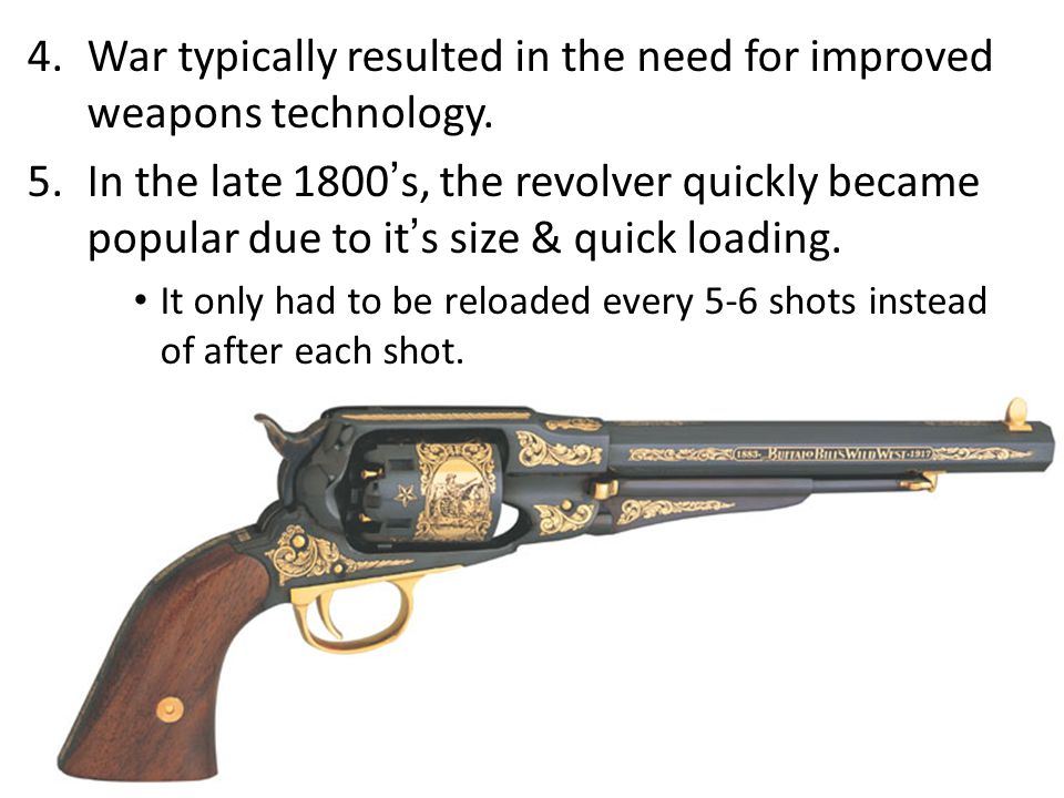 Firearms: A Quick History 1.Almost every gun is based on the same simple concept: You apply explosive pressure behind a projectile to launch it down a