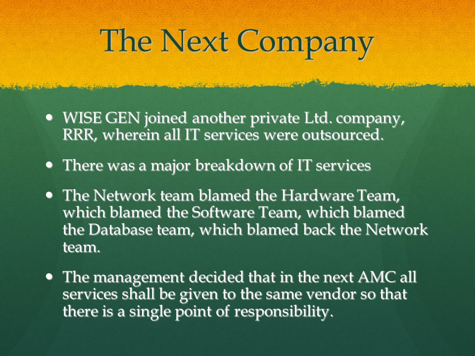 The Next Company WISE GEN joined another private Ltd.