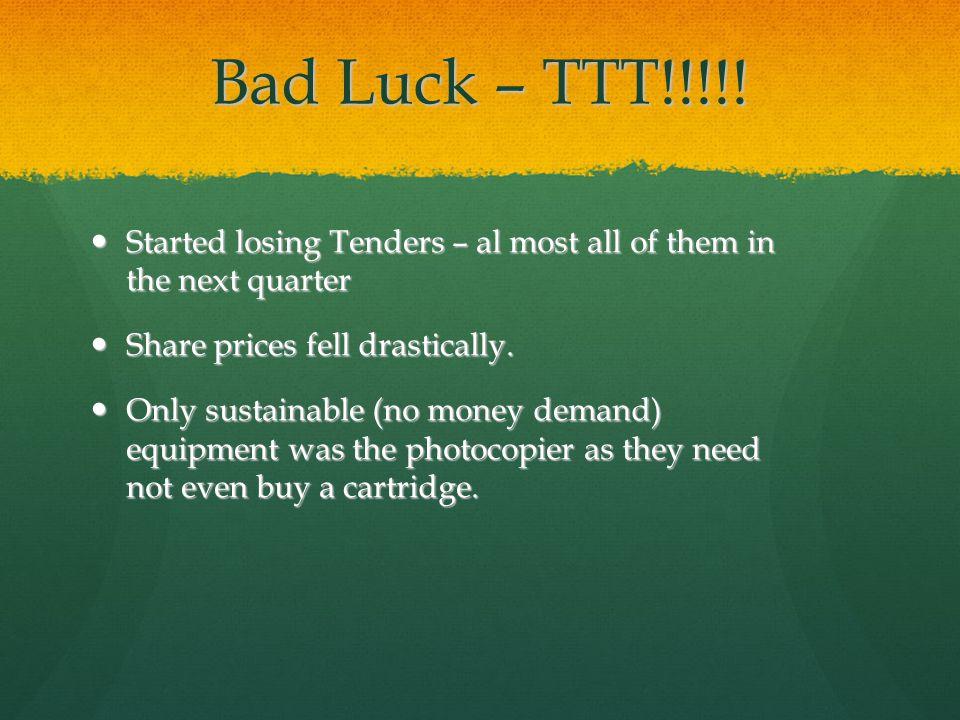 Bad Luck – TTT!!!!.
