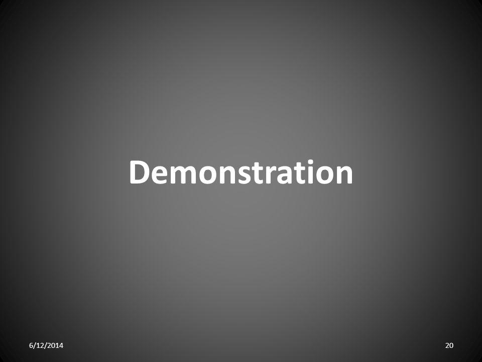 Demonstration 6/12/201420