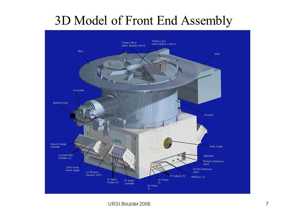 URSI Boulder 20087 3D Model of Front End Assembly