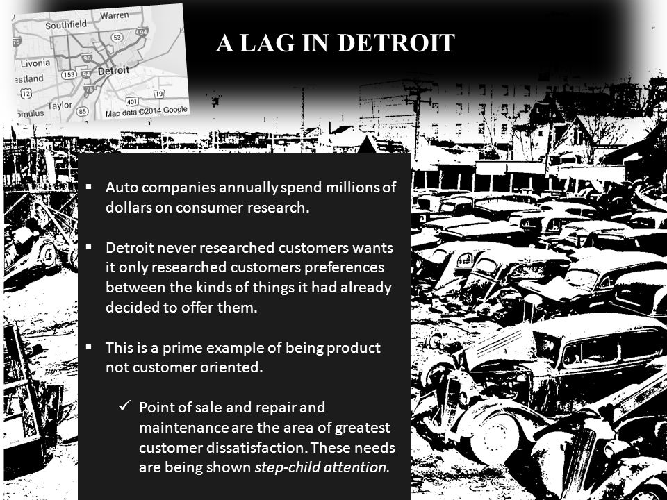 A LAG IN DETROIT Auto companies annually spend millions of dollars on consumer research.